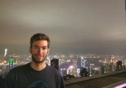 Elliott Killian in Hong Kong. Victoria Peak overlooking the entire city.